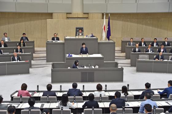 第二回東京都議会臨時会 知事発...