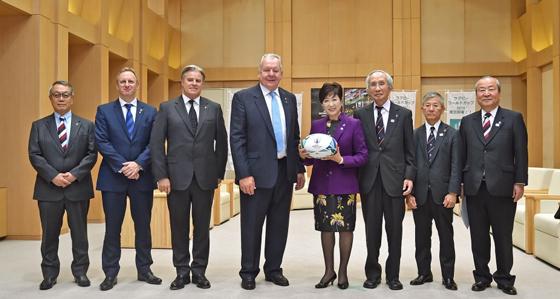 ワールドラグビー会長と面会|東京都