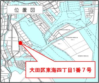 実施場所の位置図