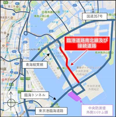 開通区間の地図