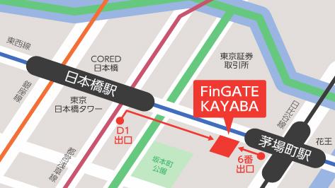 FinGATE KAYABA の地図
